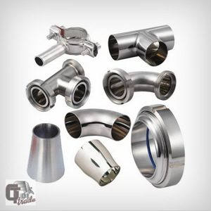 piping components made of stainless steel